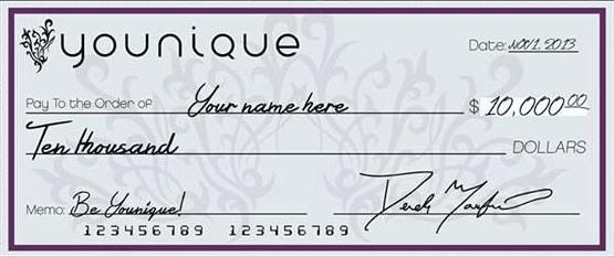 Bonus supplémentaire de 10000USD de produits Younique!