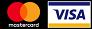 We accept Visa or Mastercard